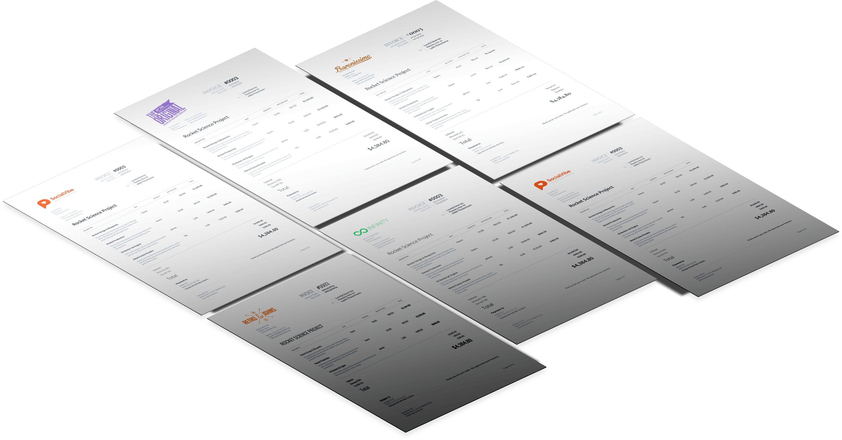 invoice design grid